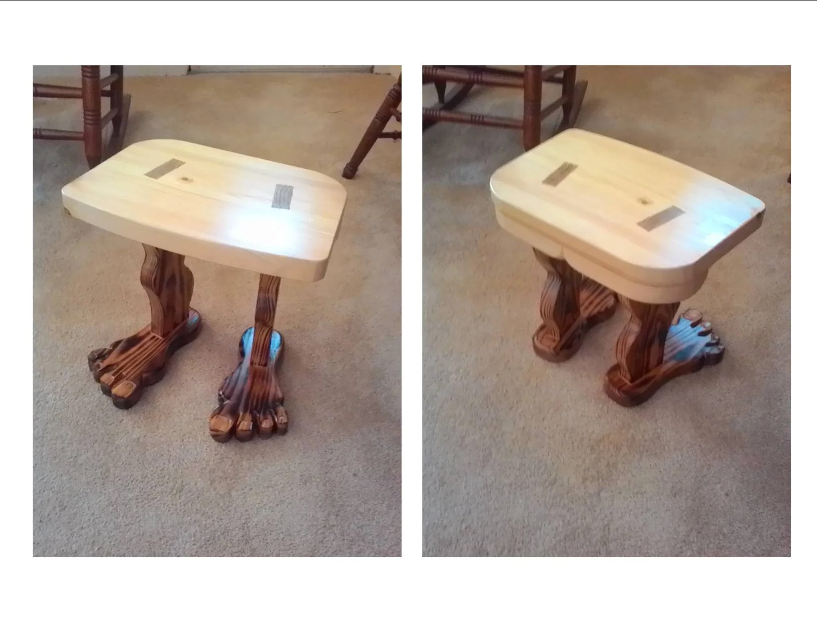 Footstool by Gary Mercer