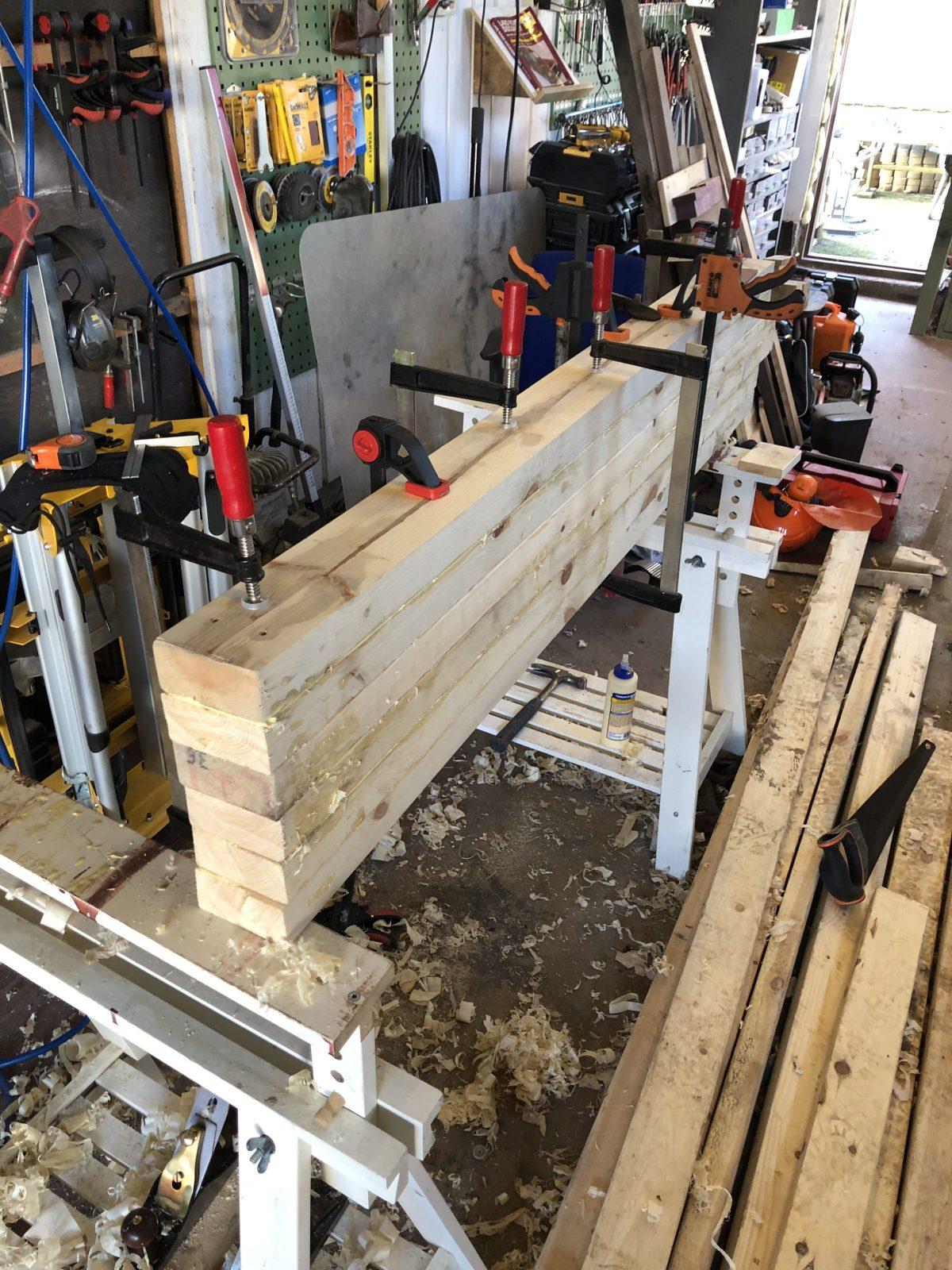 Workbench-in-progress by Bjarne Moen