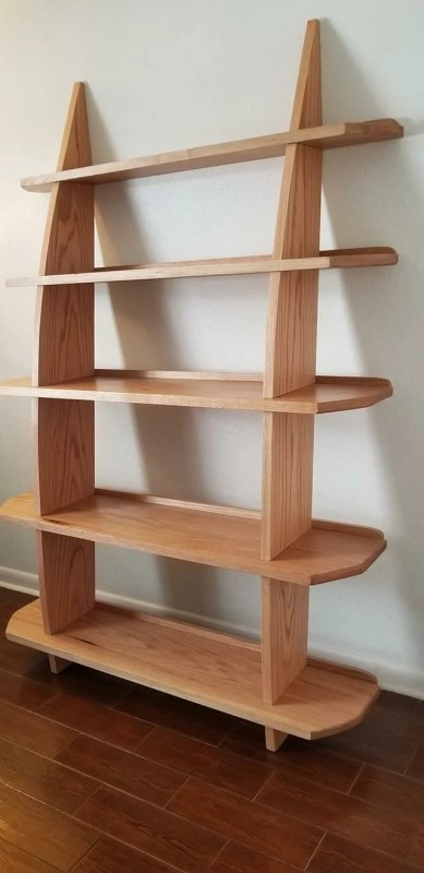 Leaning Wall Shelf by Greg Grillot