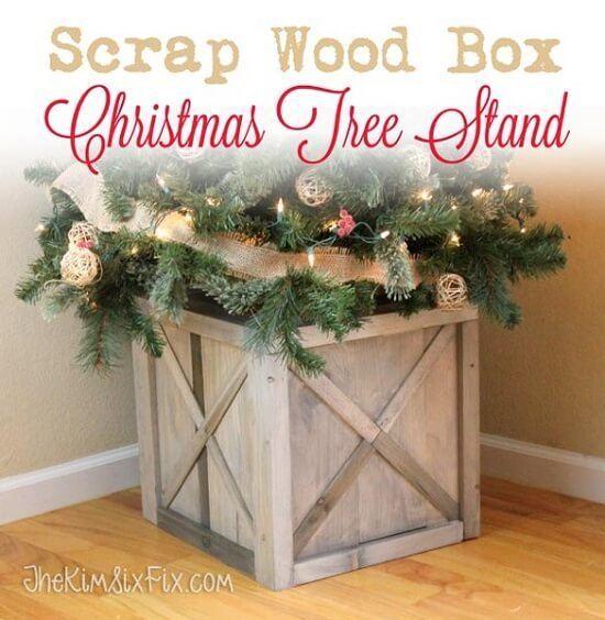DIY Scrap Wood Christmas Tree Stand Tutorial