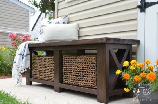Free Rustic X-Bench DIY Plans