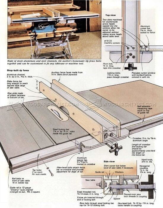 Make Your Own Table Saw Rip Fence