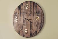 DIY Wooden Wall Clock  Wine Barrel Projects | Woodwork Junkie