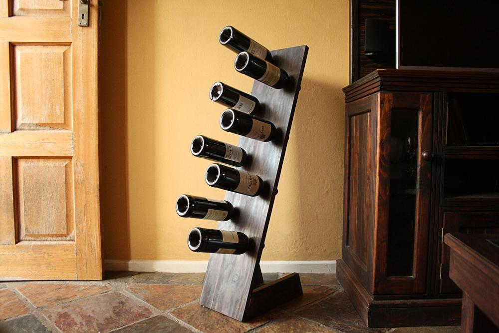 super easy diy freestanding wine rack