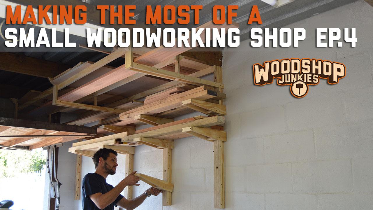 adjustable lumber storage rack for small workshops plans