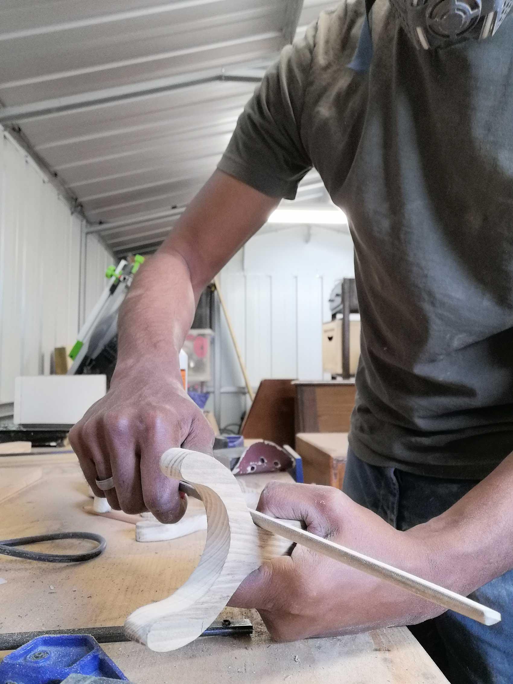 Filing the slingshot