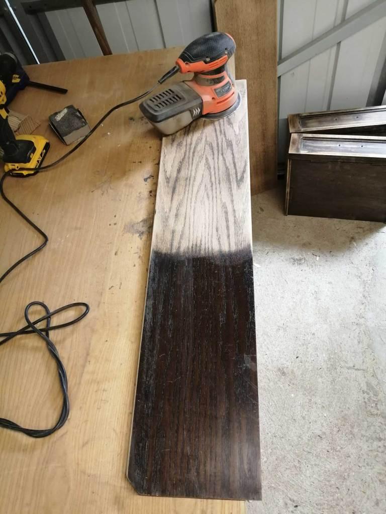 welsh dresser sanding lacquer off