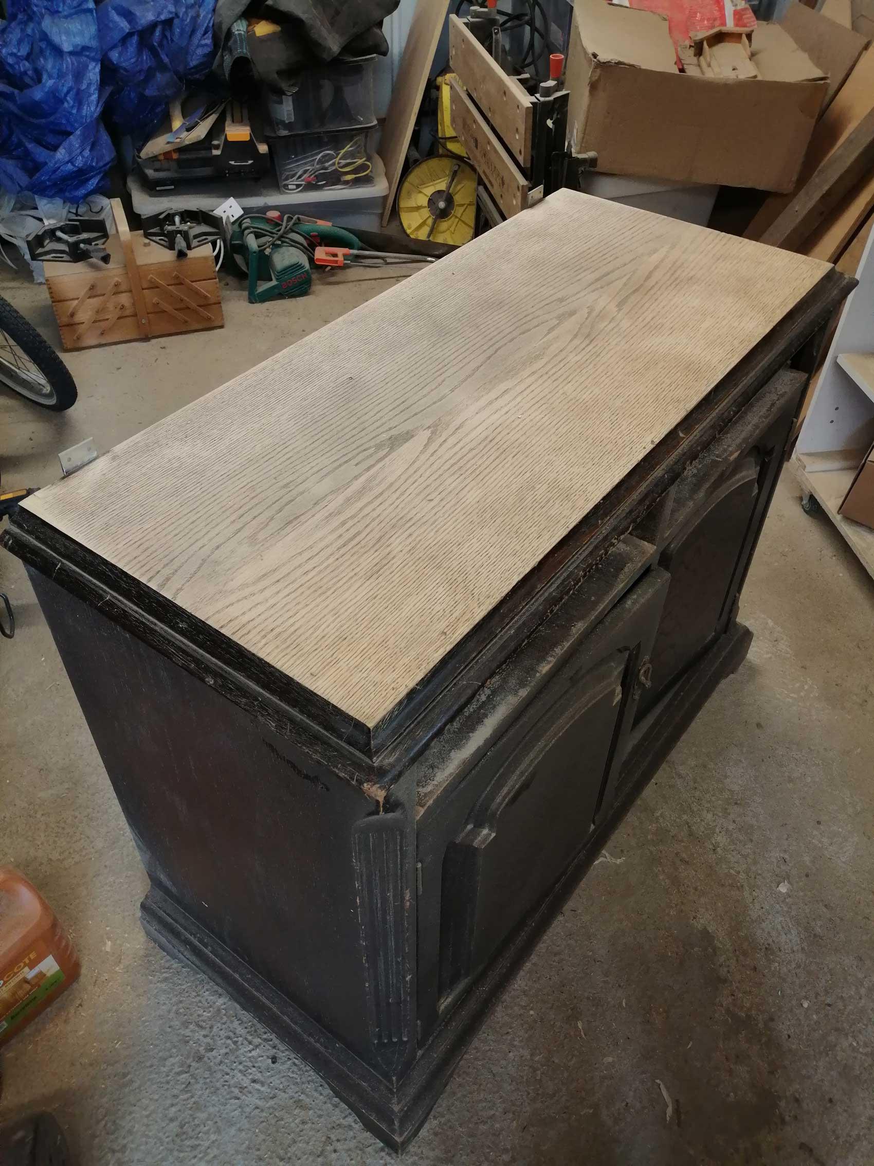 welsh dresser worktop sanded