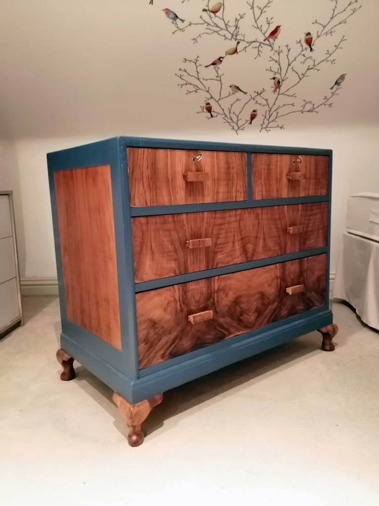 Vintage upcycled chest of drawers