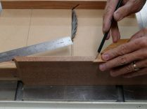 2.) After cutting one end, mark length of longest piece