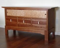 HDTV Cabinet: Sapele & Big Leaf Maple