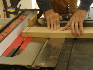 Shoulder cuts with sliding table