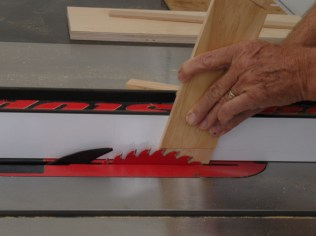 Initial Cut on Tablesaw