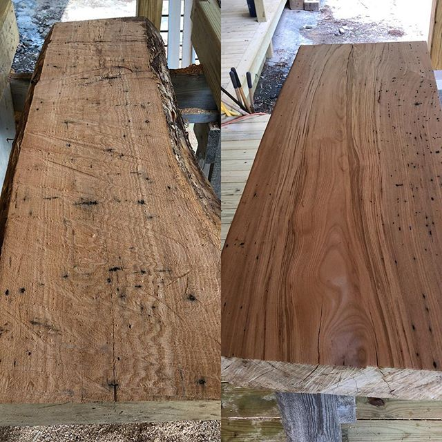 @woodworx_extreme_carpentry live edge bathroom counter top out of ash wood