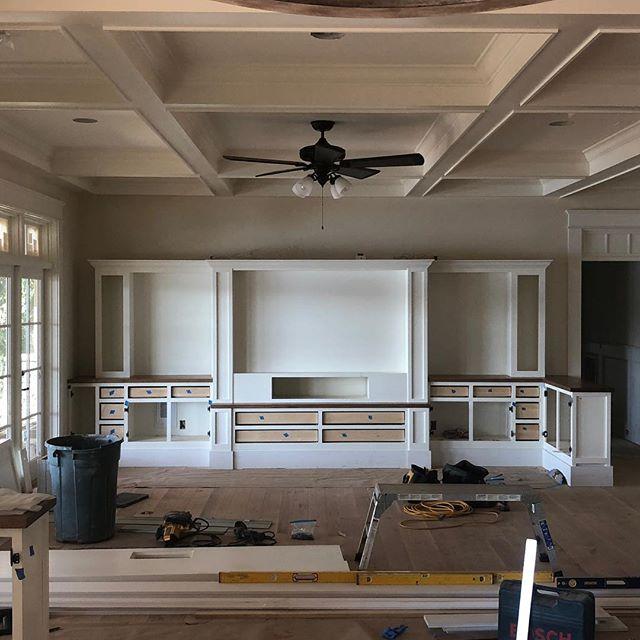 workinprogess woodwork woodworking whiteoakcountertops oak builtin shopwork denver clt lkn