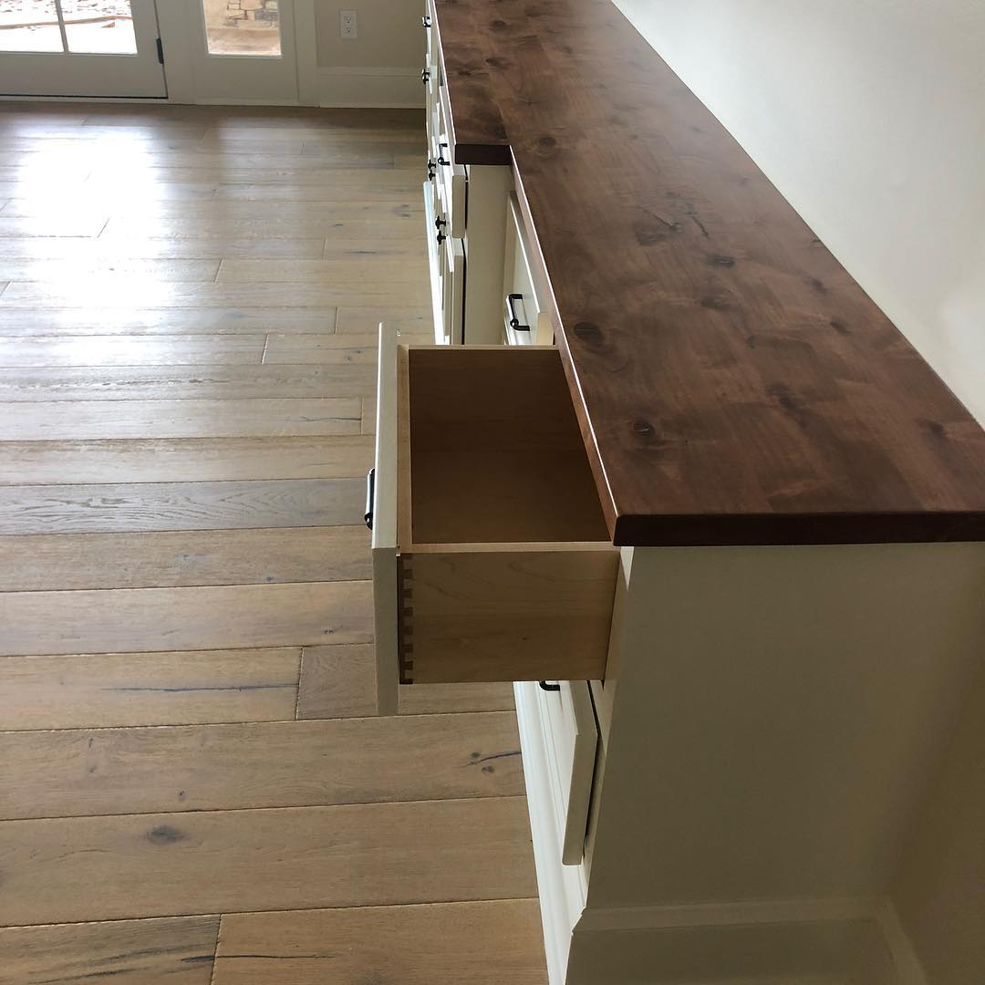 @woodworx_extreme_carpentry @finehomesinc_davidson another beautiful cabinet, knotty alder counter tops solid maple drawers