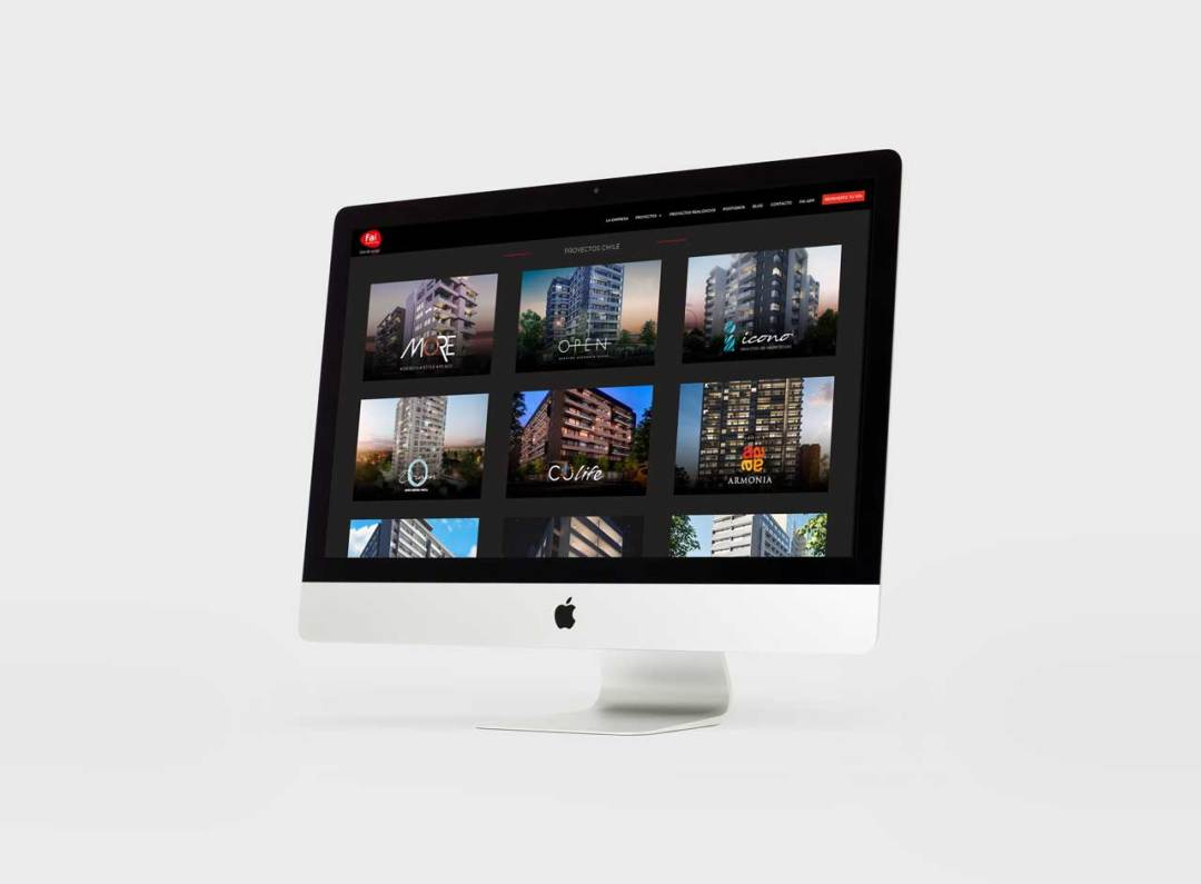 Fai website on screen