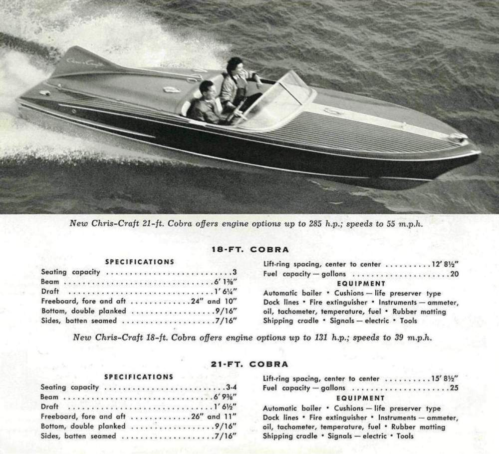 medium resolution of first production 18 u2032 chris craft cobra to be auctioned at 2012 mecum 1957 chris craft continental boat chris craft model a engine diagram
