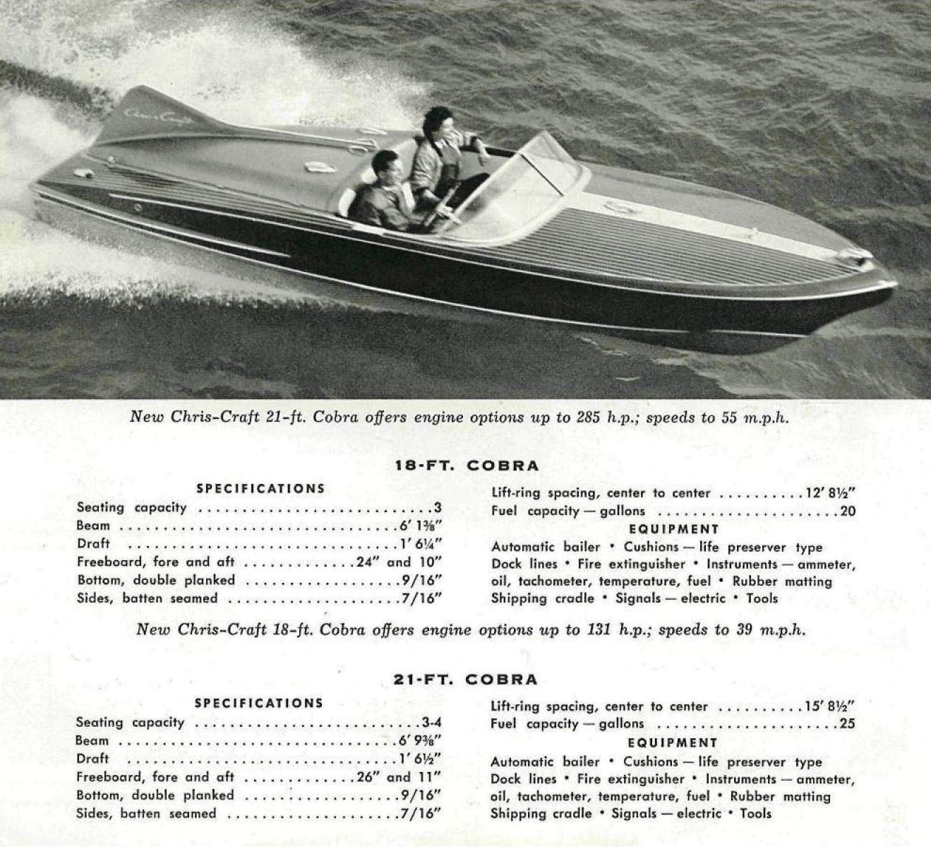 hight resolution of first production 18 u2032 chris craft cobra to be auctioned at 2012 mecum 1957 chris craft continental boat chris craft model a engine diagram