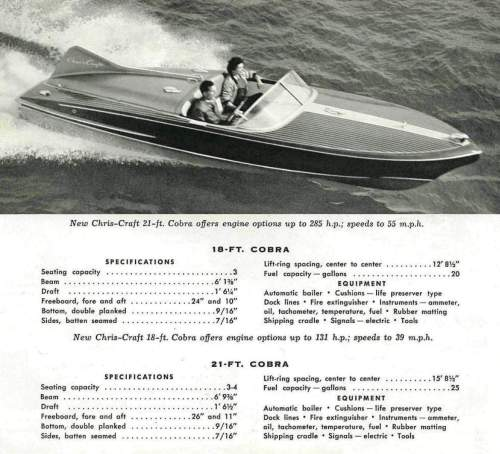 small resolution of first production 18 u2032 chris craft cobra to be auctioned at 2012 mecum 1957 chris craft continental boat chris craft model a engine diagram