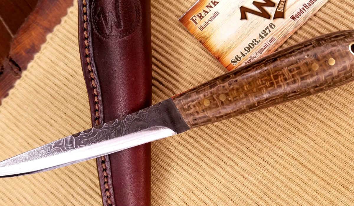 Custom Knives - Puukko Alabama Damascus