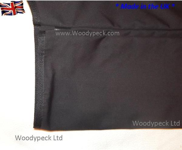 928 Black Rear Luggage Cover fully edged & lined,
