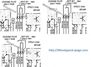 Dim Beam Coding Plug Wiring