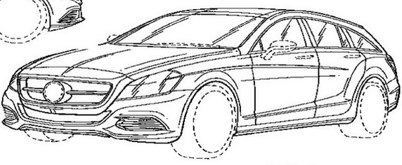 Official Patent Drawing-Mercedes CLS Shooting Break