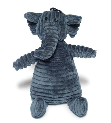 Edward The Elephant '13' Grey- Elephant Dog Toy