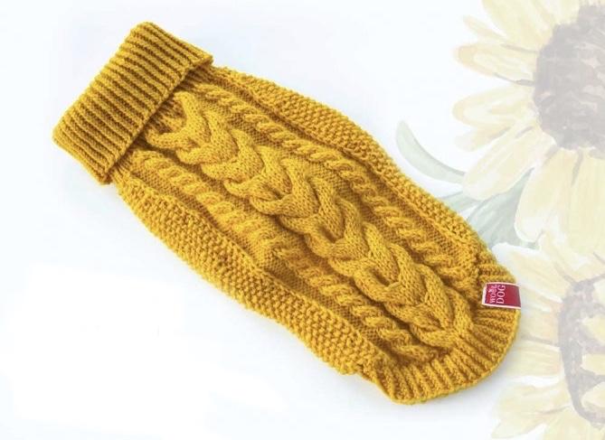 Wooldog Classic Dog Jumper Sunflower
