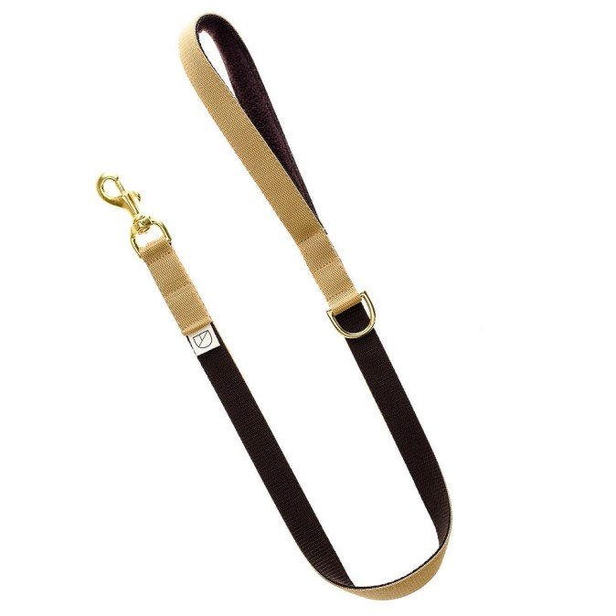 Beige and Brown Dog Lead