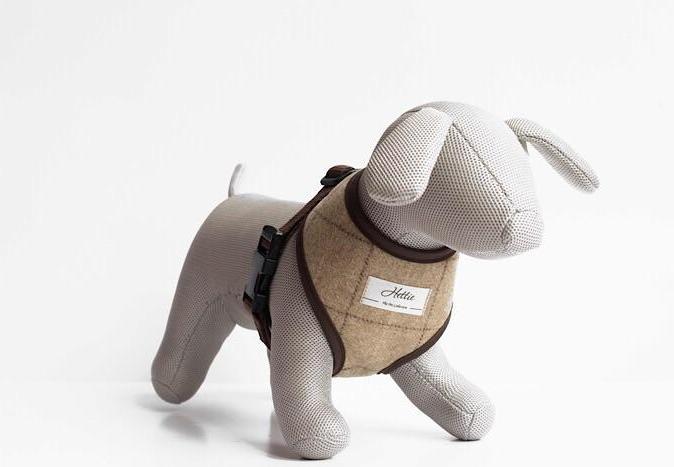 Handmade Slate Oatmeal Dog Harness
