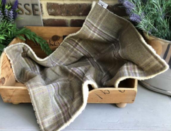 Luxury Tweed Dog Blanket Belle