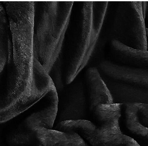 Black Soft Faux Fur Dog Blanket