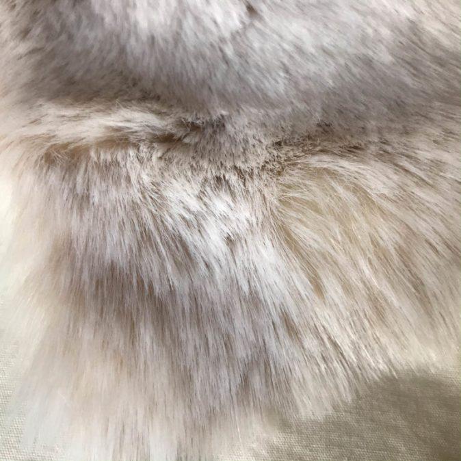 Beige Frost Faux Fur Dog Blanket
