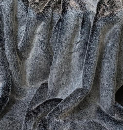 Arctic Wolf Faux Fur Dog Blanket