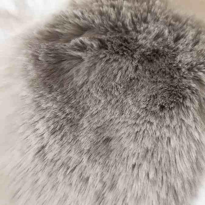 Silver Soft Faux Fur Dog Blanket