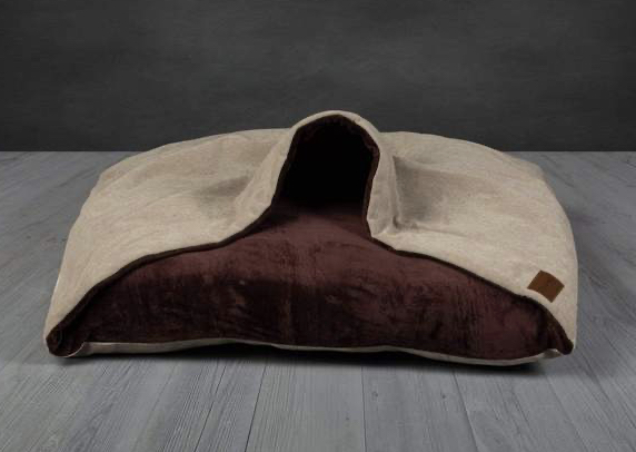Luxury Beige Snuggle Sack Dog Bed