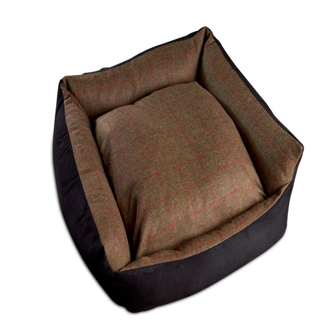 Tweed Wool Dog bed Olive