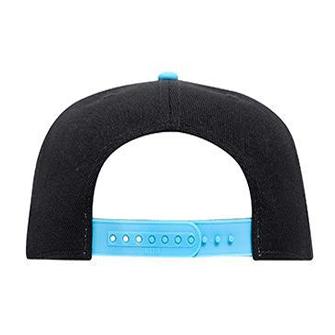 WOOF Wool Blend Snapback Cap - Black/Aqua Back