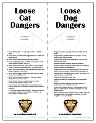Free Pet Safety Printables: Loose Dog and Cat Dangers Door