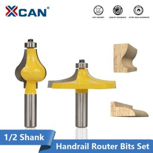 "XCAN 1/2"" Shank Classical & Beaded Handrail Router Bit Set Line knife Woodworking Cutter Tenon Cutter For Woodworking Tools"