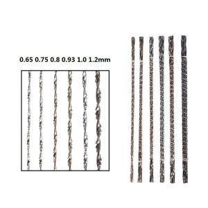 XCAN Scroll Saw Blades 144PCS 130mm Scroll Spiral Teeth Jig Blade For Cutting Jewelry Metal Wire Saw Blade