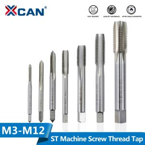 XCAN ST Machine Screw Thread Tap M3 M4 M5 M6 M8 M10 M12 Right Hand HSS Screw Thread Tap Metric Plug Taps Hand Tap Drill