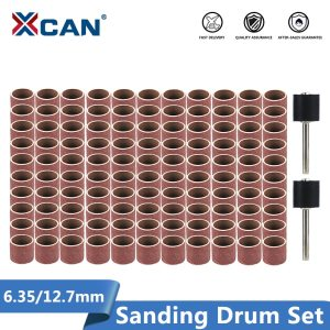 Abrasive Disc 1/4 3/8 1/2 Inch Sanding Drum Set With Sanding Mandrels Sanding Band Fits Dremel Rotary Tool