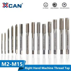 XCAN 1pc Right Hand Thread Tap HSS Machine Plug Tap Metric Screw Tap Drill Thread Tool M2 M2.5 M3 M4 M5 M6 M7 M8 M10 M12 M14 M15