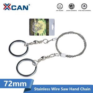 XCAN Field Survival Stainless Wire Saw Hand Chain Saw Emergency Travel Kit 72cm Long For Outdoor Survive Tool