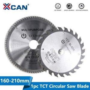 XCAN 1pc Diameter 160-210mm Mulitpurpose TCT Circular Saw Blade Woodworking Cutting Disc Carbide Tipped Wood Saw Blade