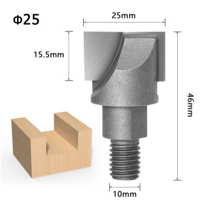 1pcs 10MM Shank CNC Cleaning bottom router bit Woodworking Tools two Screw thread cutter lock milling cutter