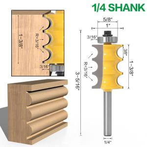 "1pc 1/4""shank 6mm shank High Quality Triple Bead Column Molding Router Bit Tenon Cutter Woodworking Milling Cutters"